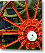 Fancy Tractor Wheel Metal Print