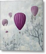 Fantasy Artistic Image Of Pink Hot Air Metal Print