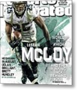 Fantasy Defies Reality A World In Which Lesean Mccoy And Sports Illustrated Cover Metal Print