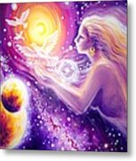 Fantasy Painting About The Flight Of A Dream In The Universe Metal Print