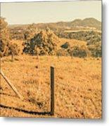 Farm Fields Of Eumundi, Sunshine Coast Metal Print