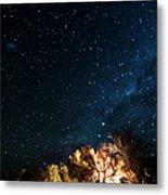 Farm House And Milky Way Metal Print