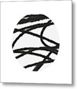Fastball 2- Modern Art By Linda Woods Metal Print