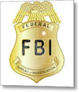 Fbi Badge Metal Print