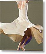 Female Ballet Dancer Dancing Metal Print