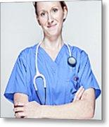 Female Doctor Metal Print
