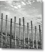 Fence At Jones Beach State Park. New Metal Print