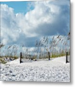 Fences In The Sand Metal Print