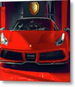 Ferrari Red Metal Print
