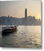 Ferry Boat To Hong Kong Metal Print