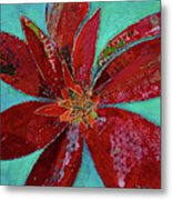 Fiery Bromeliad I Metal Print