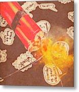 Fiery Fuse Metal Print