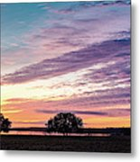Fiery Sunset Over Canyon Lake - Comal County - Central Texas Hill Country Metal Print