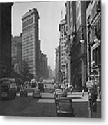 Fifth Ave. And The Flatiron Bldg Metal Print