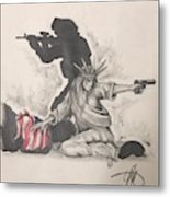 Fighting For Liberty  Metal Print