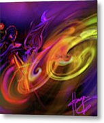 Cellist In Space Metal Print