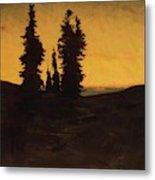 Fir Trees At Sunset Metal Print