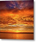 Fire Over Lake Eustis Metal Print