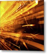 Fire Sparkler Metal Print