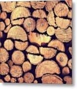 Firewood Logs Metal Print