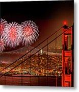 Firework At San Francisco, California Metal Print