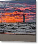 First Day Of Fall Sunset Metal Print