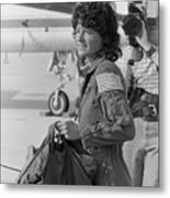 First Female American Astronaut Sally Metal Print
