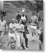 First Women In Boston Marathon Metal Print