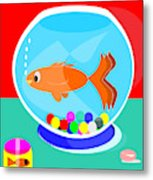 Fish Tank With Fish And Complete Kit Metal Print
