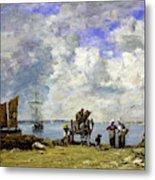 Fishermens Wives At The Seaside - Digital Remastered Edition Metal Print