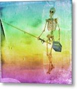Fishing Man Metal Print