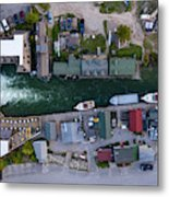 Fishtown Dam Panorama From Above Metal Print
