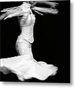 Flamenco Flying Metal Print