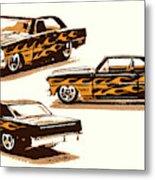 Flamin Chevrolet 66 Nova Metal Print