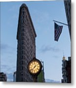 Flat Iron Building And Fifth Avenue Metal Print