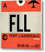 Fll Fort Lauderdale Luggage Tag I Metal Print