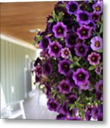 Floral Porch Sitting Metal Print