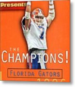 Florida Qb Danny Wuerffel, 1997 Sugar Bowl Sports Illustrated Cover Metal Print