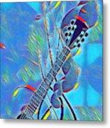 Flow Of Music Metal Print