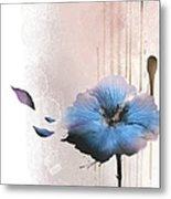 Flower On White Background Metal Print