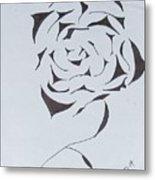Flower Opening Metal Print