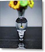 Flowers And Crystal Ball Metal Print