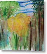 Flowers In A Forest Metal Print