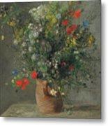 Flowers In A Vase, Circa 1866 Metal Print