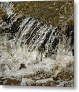 Flowing Water Over Rocks Metal Print