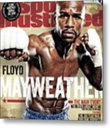 Floyd Mayweather Jr., 2015 Wbawbcwbo Welterweight Title Sports Illustrated Cover Metal Print