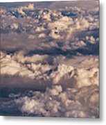 Flying Over The Rocky Mountains Metal Print