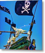 Flying The Pirates Colors Metal Print