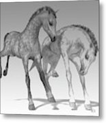 Foals Black And White Bleached Metal Print