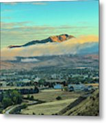 Fog Over Squaw Butte Metal Print
